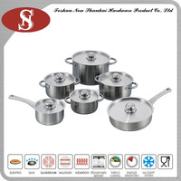 Sc625 Stainless steel 12pcs cookware set
