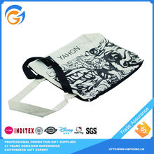 Black and White Tote Vegetable Plastic Shopping Bag
