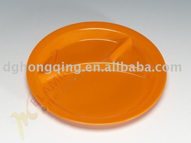 round three ways melamine tray/plate with high quality