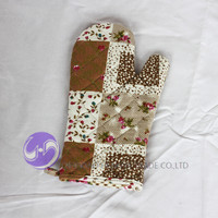 custom printed cotton kitchen cooking oven mitten