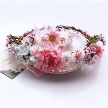 Wholesale Bridal Big Artifical Flower Hair Accessories, Rose Flower Elastic <strong>Headband</strong>