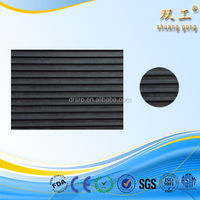 Wide ribbed rubber floor mat /aitisliping rubber sheet /