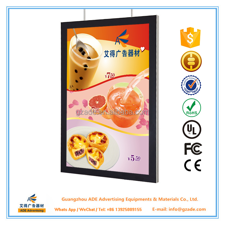 Advertising LED Magnetic Light Box Menu A0,A1,A2,A3