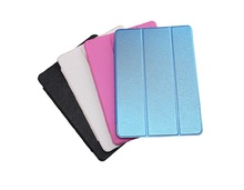 Magnetic smart cover leather for ipad air 2 case, colourful strap leather for ipad mini case 1 2 3