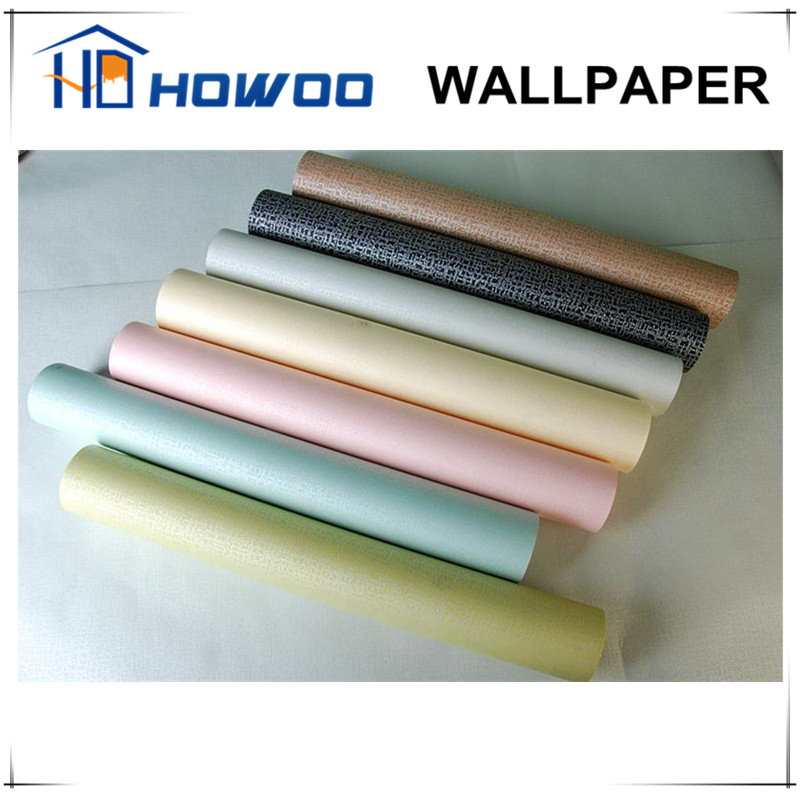 Howoo home fabric vinyl non woven backed wallpaper