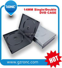 Guangzhou RONC Wholesale 14mm long single/double plastic black dvd case