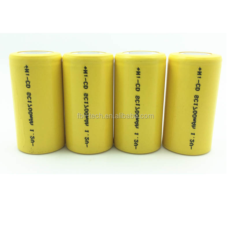 High quality nickel cadmium rechargeable 1.2V 1700mAh SC battery