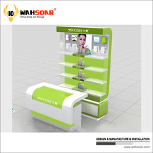 High quality solid wood cosmetic shop furniture