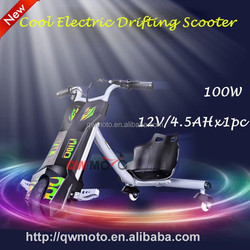 QWMOTO 100W electric tricycles drift 3 wheel motorcycle trike for sale
