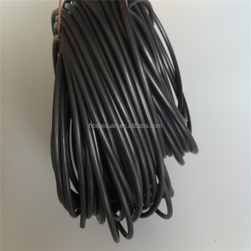 Black nbr circular rubber o ring rope for transformer with high quality made in china