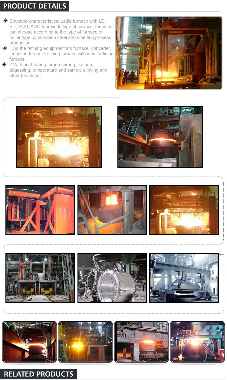 Professional Manufacturer Of Manufacturing Process Electric Arc Furnace Steel Production Equipment