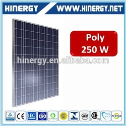China manufacturer polycrystalline 250w solar panel poly 250w solar panel bag for irrigation system
