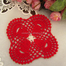 CoolWin 2017new design handmade heat pad, beautiful crochet cup mat / coaster