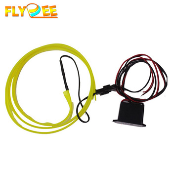 DC 12V 2.3mm Car Auto Interior car Atmosphere light Neon Cold Light, EL Electroluminiscent Wire Plus Inverter