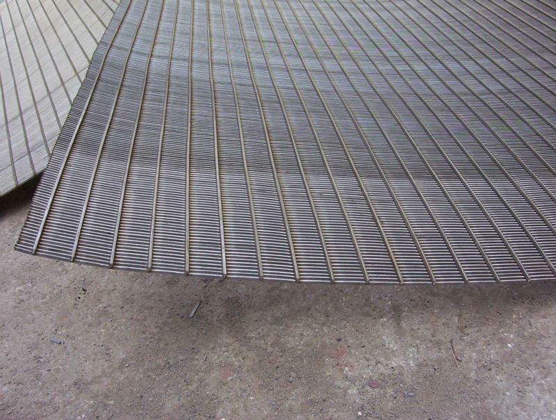 Mineral processing wedge wire welded cross flow sieves