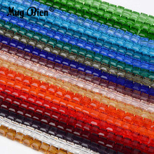 Free Sample Loose Square Glass Beads Cube Shaped Crystal Beads