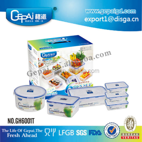 Hot selling plastic walmart food storage containers 6pcs set