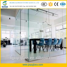 High stability factory price frosted clear 12mm tempered glass facade
