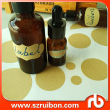 Hight quality Kraft paper labels removable blank kraft paper stickers Self-adhesive Labels Sticker For Essential Oil Bottle