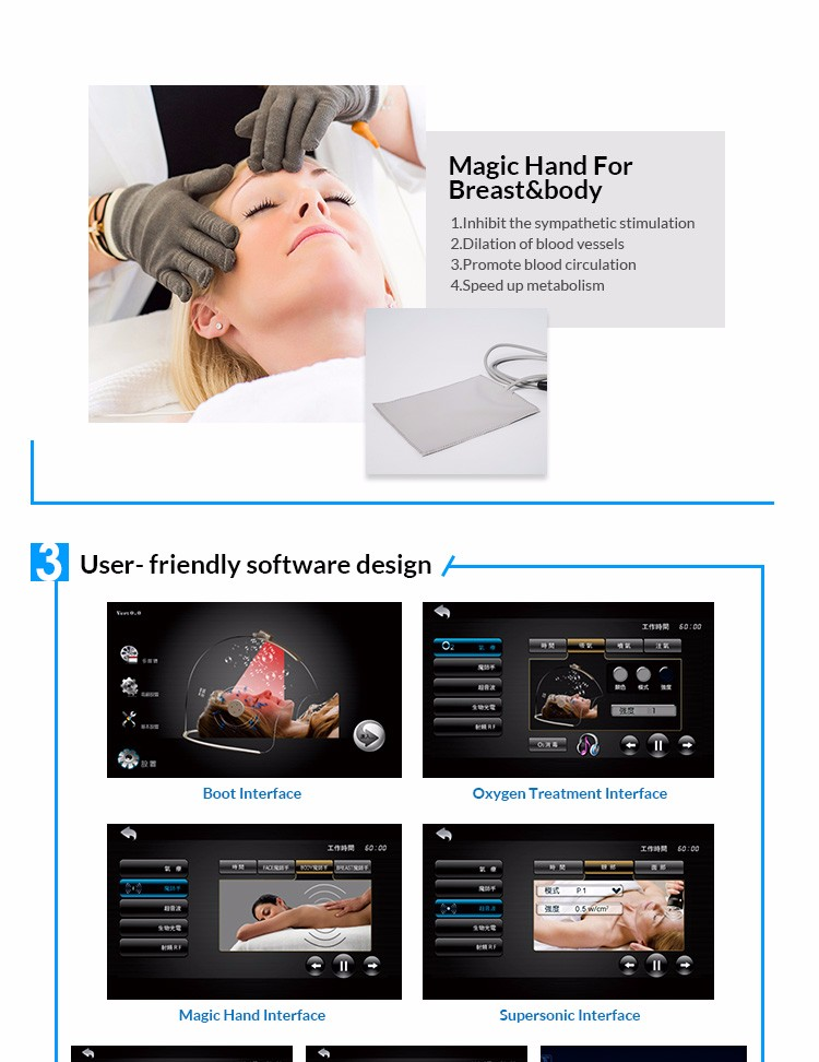 Oxygen facial therapy beauty machine for skin care