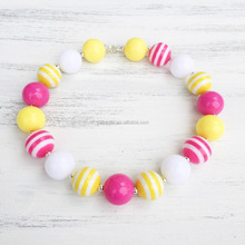 Hot Sale Wholesale Custom Fashion 20mm Beads Chunky Bubblegum Necklace Kids