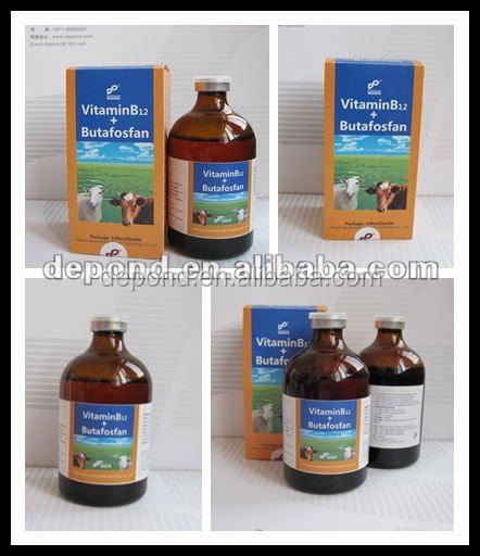 veterinary drug companies Vitamin B12 + Butafosfan injection