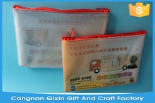 Factory Direct Sales All Kinds of Pvc Mesh Zipper Bags For File Packaging