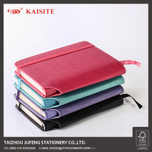 A6 Thermo PU notebook with pen holder and elastic band