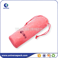 Nice color printed logo wine velvet bag with drawstring on sale