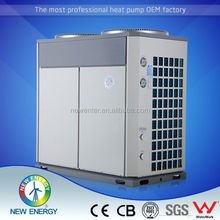 air exchanger with hydrophilic coating DN32 household screw compresor air source heat pump with fan scroll type