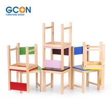 Cute Wooden Kids Children Chair Stool Pine Wood Stools Toddler Furniture
