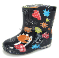 cute boys robot print cheap kids plastic rain boots