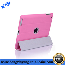 for ipad2 flip stand leather case ,magnetic flip leather cover