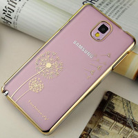 Diamond Crystal Rhinestone Transparent PC back cover case for Samsung galaxy Note 3 with designs