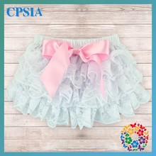 Wholesale Lovely Baby Lace Bloomers With Ruffles Diaper Cover Kids Clothes In China