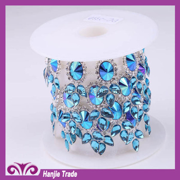 Hot sell hot Clothing textiles import 888 rhinestone chain for clothes