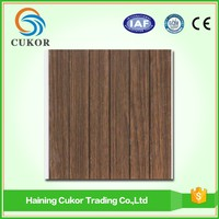 Cheap PVC cedar look plastic wood ceiling panel board