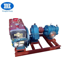 LC type high viscosity rotary lobe oil pump with diesel engine/bitumen pump