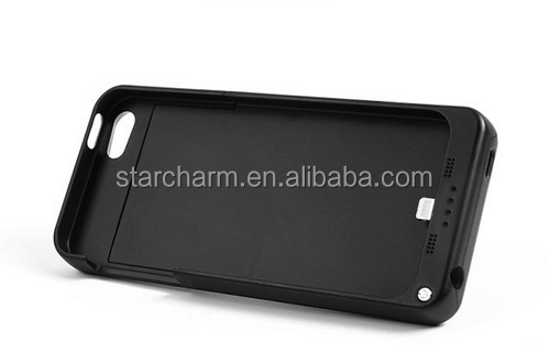 2200mah smart mobile cell phone cover power bank battery charger case for iphone5s