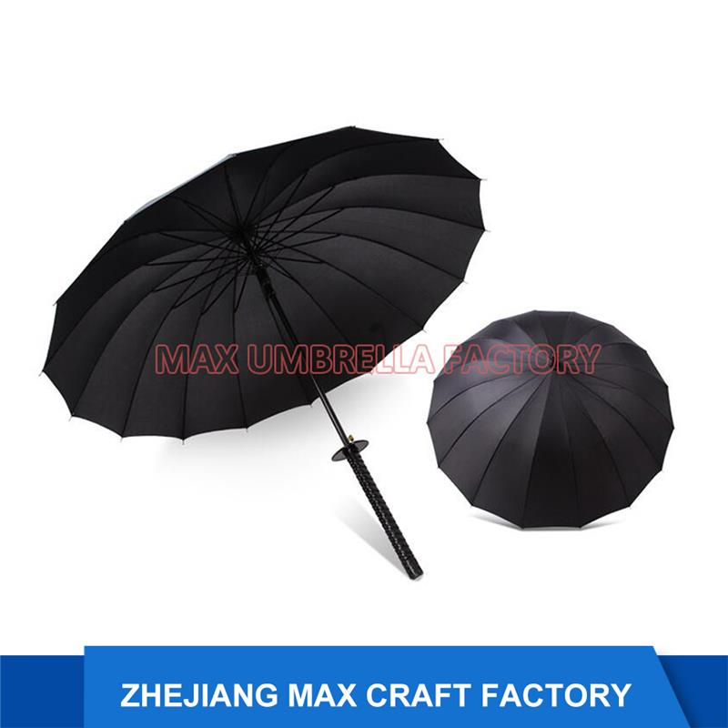 Strong Windproof Samurai Sword Umbrella, 16 Ribs Umbrella