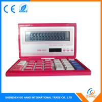 High Quality 14-Digit Desktop Solar Foldable Financial Calculator For Gift