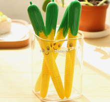 Novelty product smile face corn shaped plastic ball pen, lovely pen