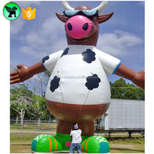 Advertising Cartoon Event Animal Model Giant Dairy Cow Inflatable For Promotion A366