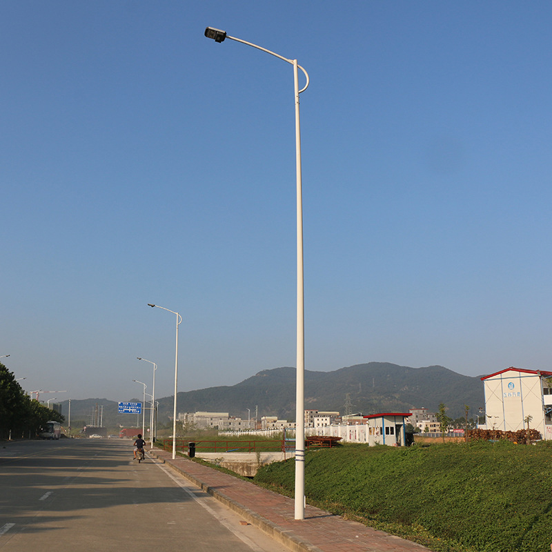 Galvanized double arm road street light pole Q235 material with OEM,ODM service, ISO, SGS, CE certification