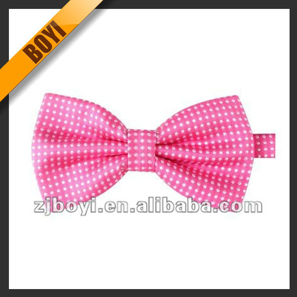 Fashion Pink Wholesale Dog Bow Tie