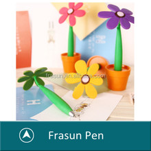 Nice funny multi color school supply novelty sunflower shape ball pens