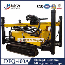 400m deep hydraulic top drive head portable water well drilling rig
