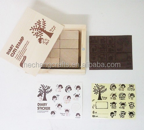 2016 Make Your Own Design wooden engraving stamps