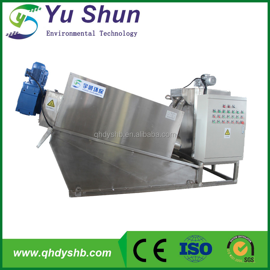 Sludge dewatering press machine for tannery sewage