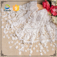 Hot sale stretch nylon and cotton elastic lace trim